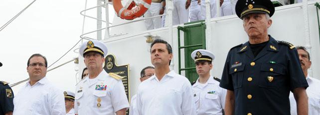 ceremonia de despedida del buque escuela cuauhtemoc